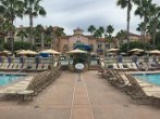 Entrance to the Marriott Newport Beach via the pool area