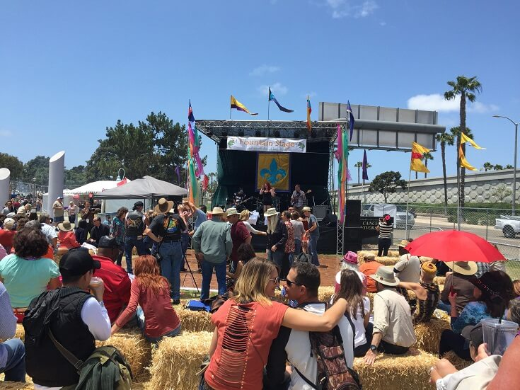 One of several music stages at San Diego's Gator by the Bay