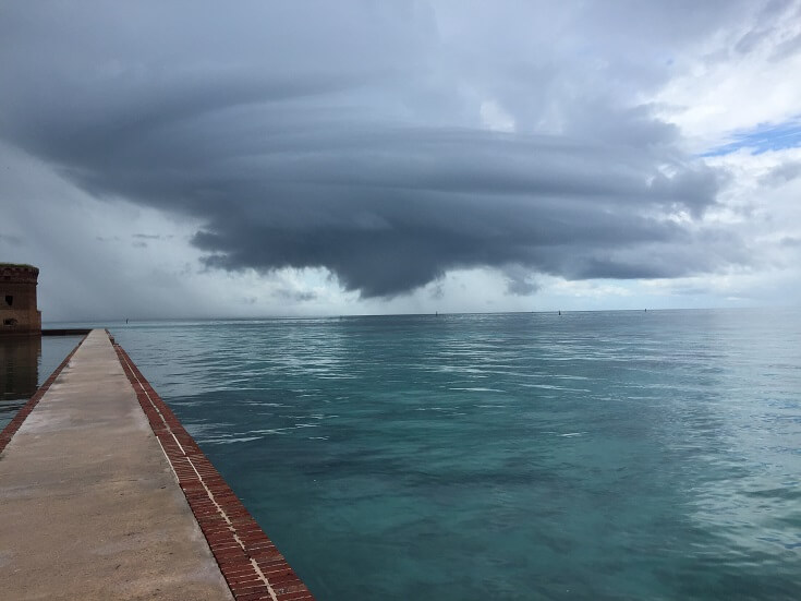 Storm clouds form south of Key West