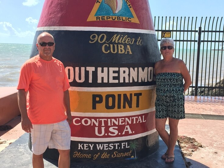 Southernmost point landmark in Key West