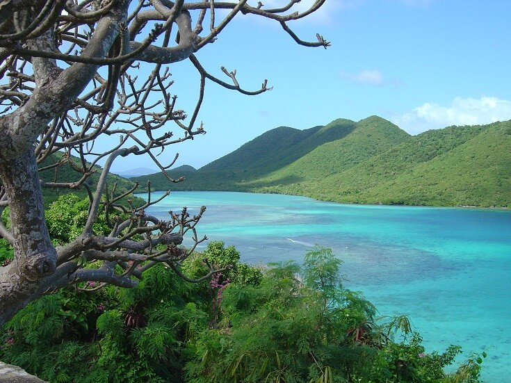 View of beautiful Mary's Creek in St John USVI