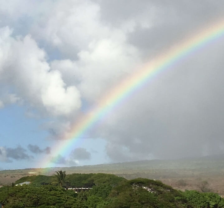 Maui Rainbow over Kaanapali during rain shower