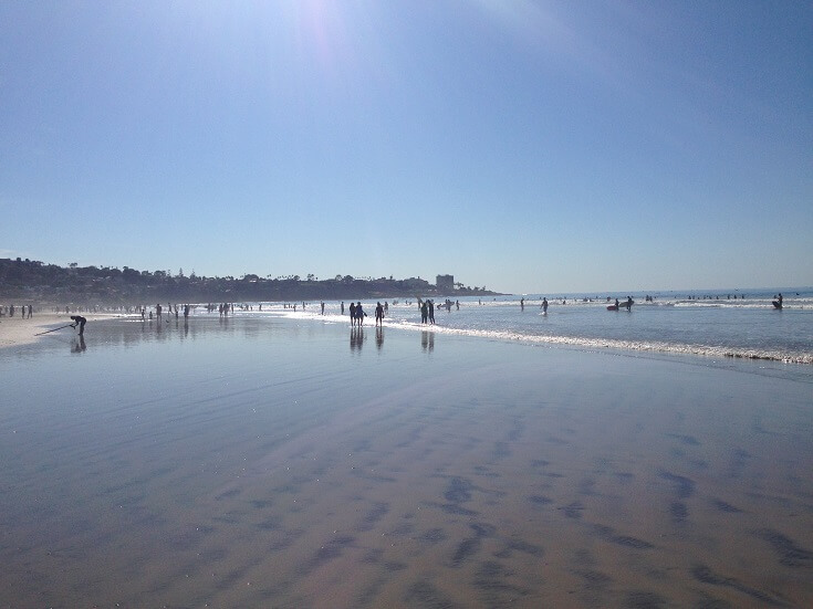 Calm waters and sunshine at San Diego's La Jolla Shores
