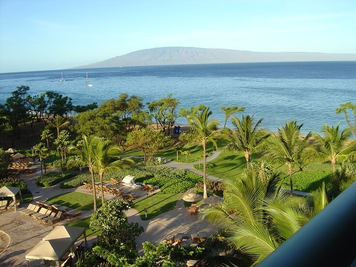 View of Lanai from our balcony