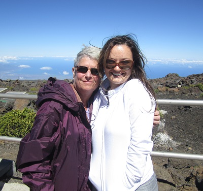 My wife Mary and good friend Hashi atop Mt Haleakala in Maui