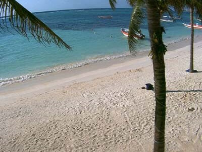 View of Akumal Beach, south of Cancun Mexico
