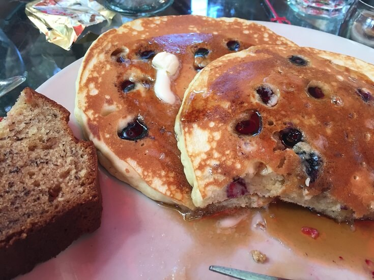 Blue Heaven blueberry pancakes