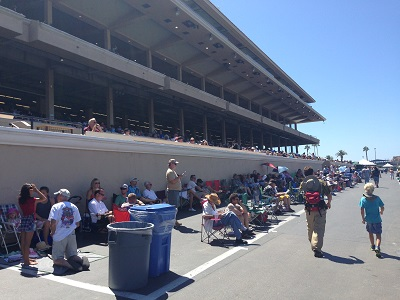 View of Grandstand from Stretch Run area