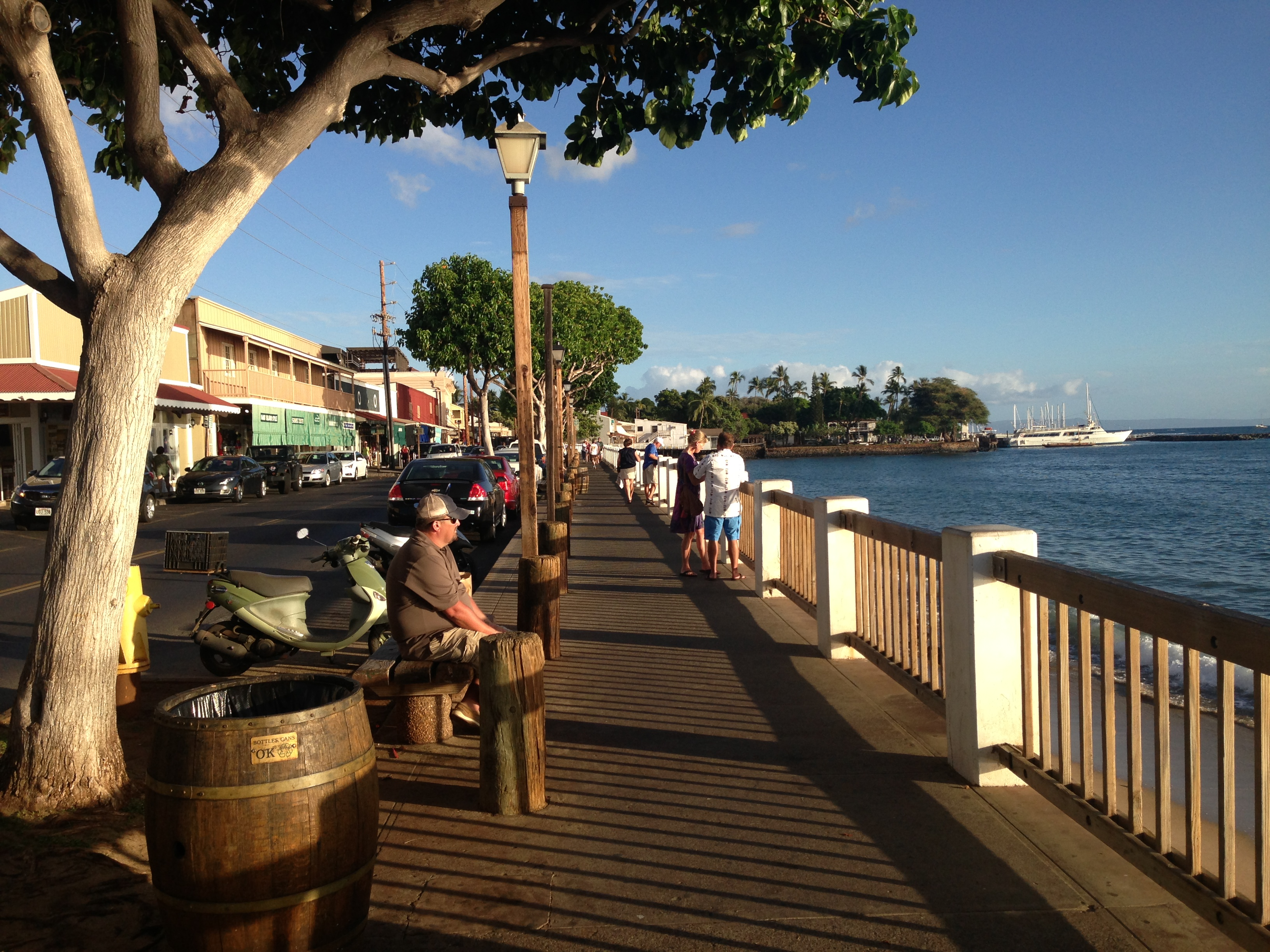 Downtown Lahaina boardwalk