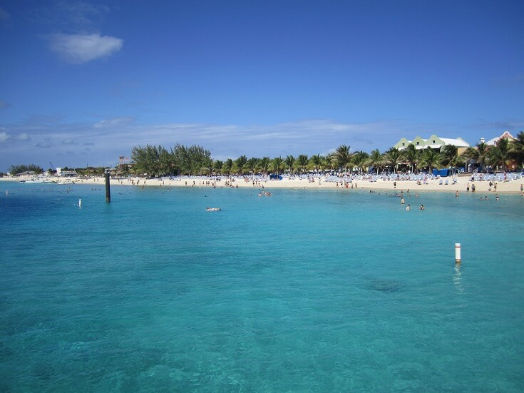 Grand Turk beach adjacent to cruise ship pier