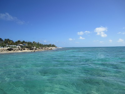 Beautiful water of Grand Turk in the Caribbean