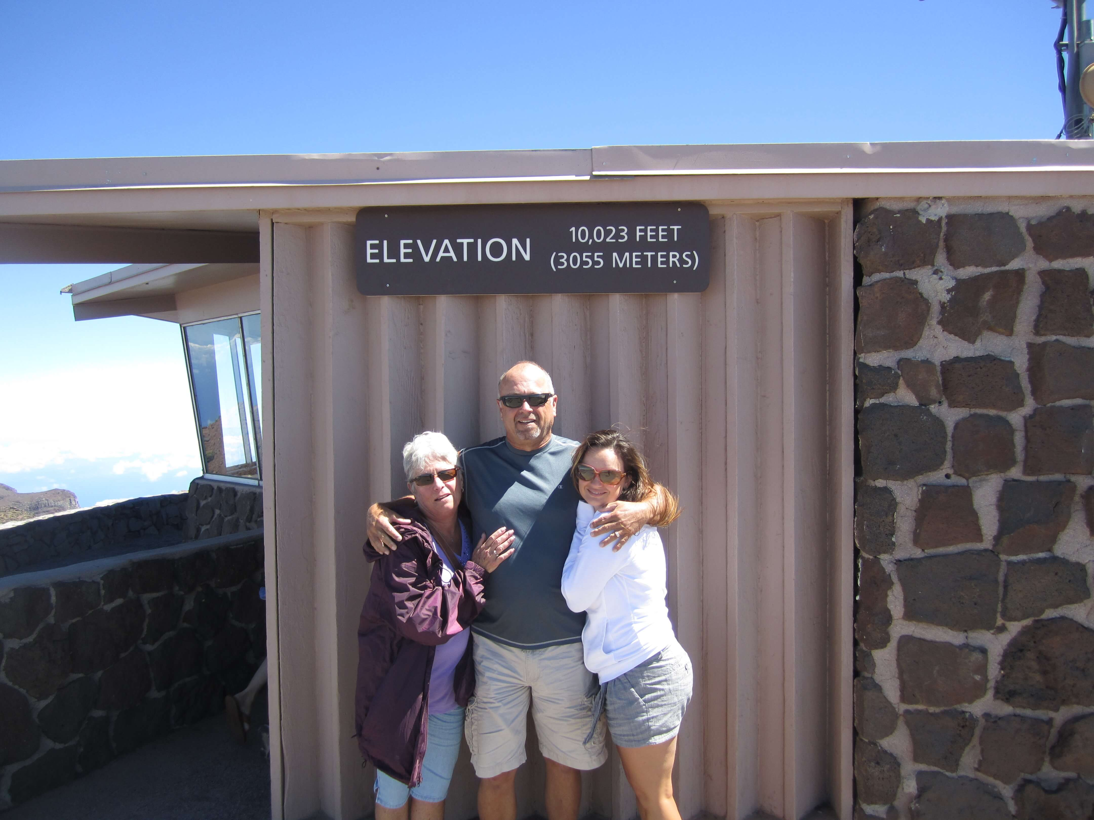 Haleakala summit at 10,023 feet