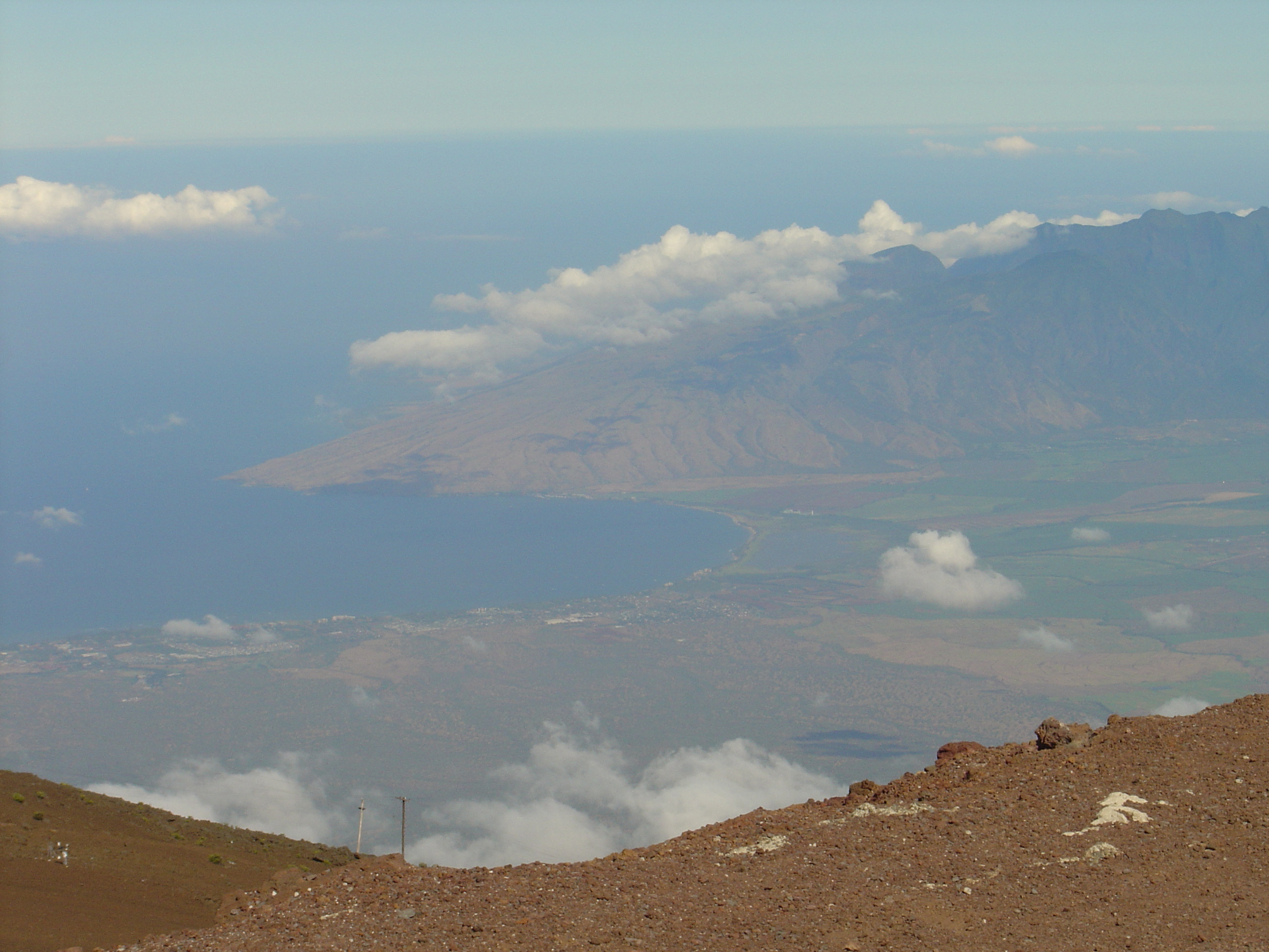 View from Haleakala looking towards Kihei
