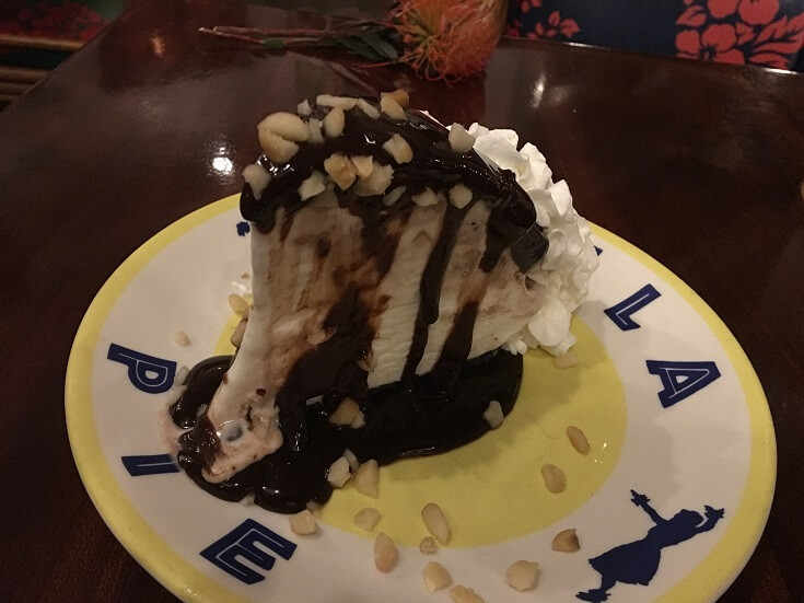 Hula Grill's Hula pie, smothered with chocolate and macadamia nuts