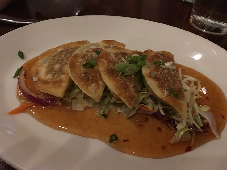 Hula Grill's lobster and scallop potstickers