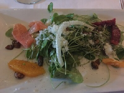 Island Prime's citrus and fennel salad