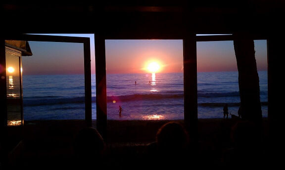 Sunset dinner at Jake's Del Mar