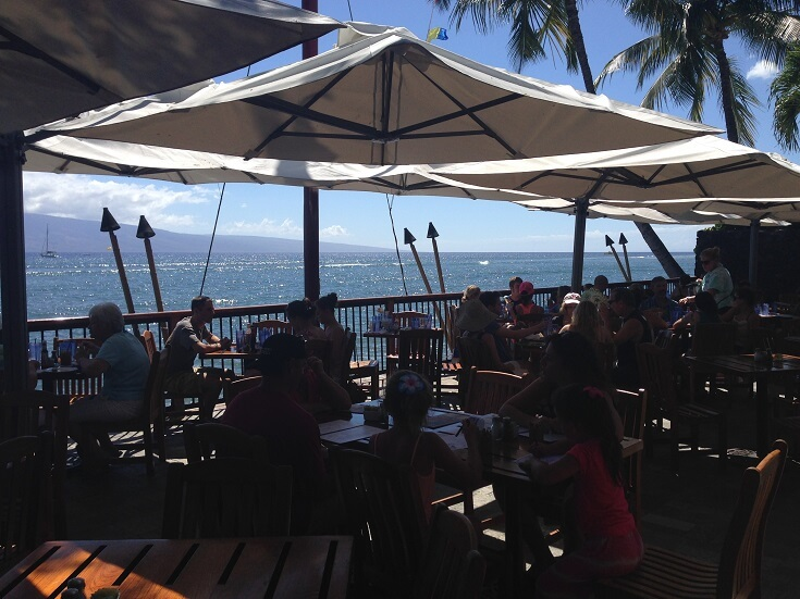 Beautiful view of Lanai from Kimo's dining area