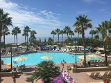 The main pool area at the Marriott Newport Beach Resort and Spa