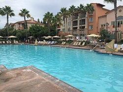 There are 5 nice pools scattered about the Marriott Newport Beach