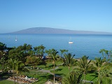 Morning view of the Pacific Ocean from Kaanapali