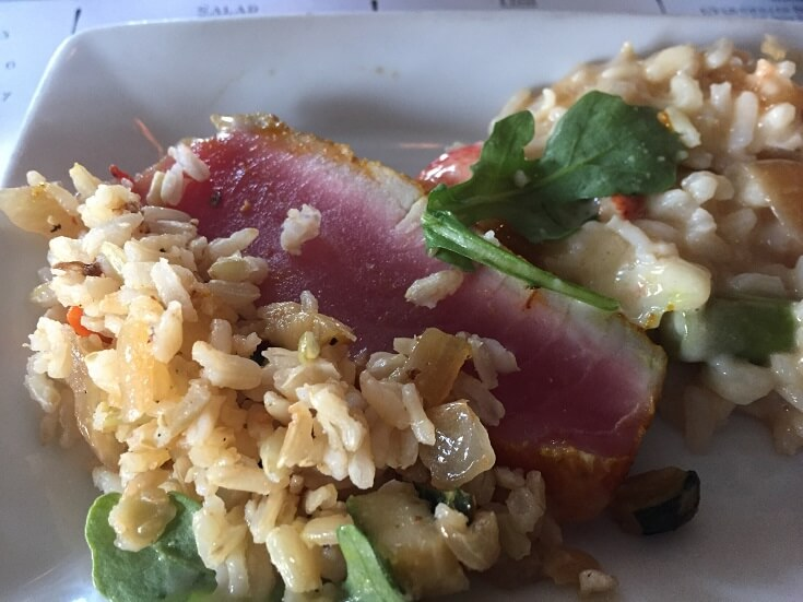 The Rooftop Laguna Beach seared Ahi
