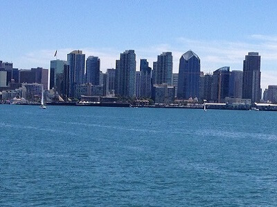 Live webcam view of San Diego bay and the downtown skyline