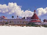 View of one of the most famous San Diego Resorts, The Hotel del Coronado