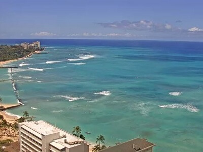 View from the top of the Sheraton Princess Kaiulani in Oahu Hawaii