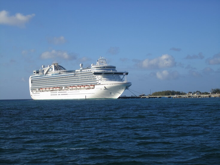 The Ruby Princess cruise ship