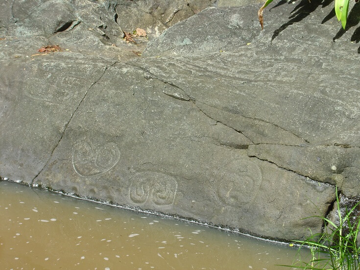 The ancient Petroglyphs in St John