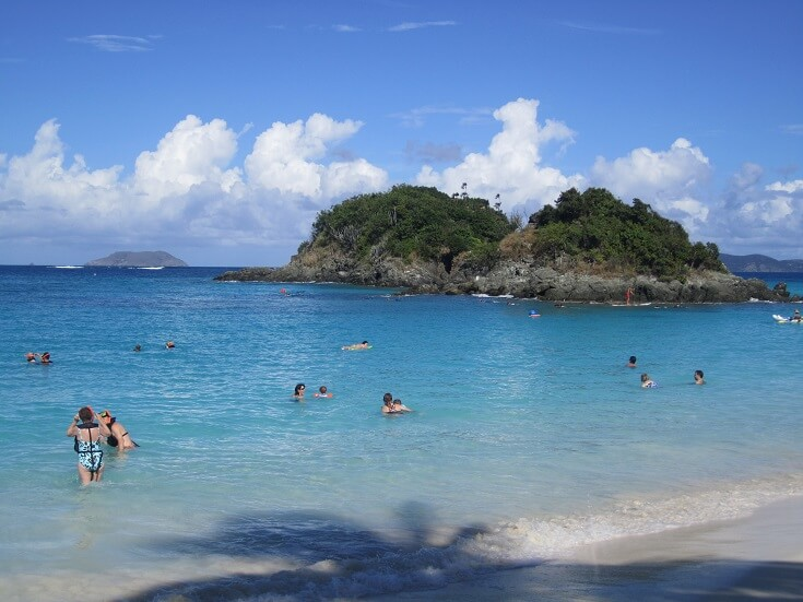 Snorkeling at Trunk Bay in St John