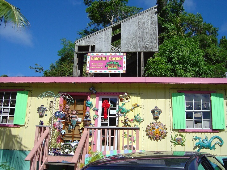Cute shop along the side of the road while driving through the northern portion of St John