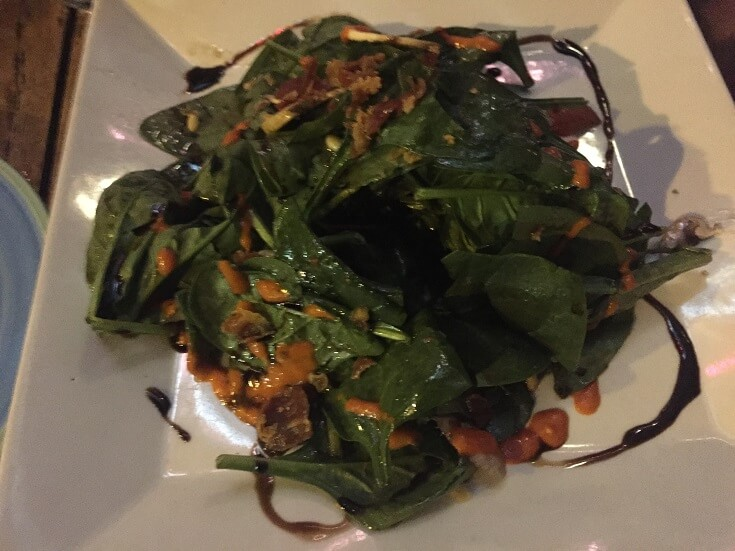 915 Duval spinach salad