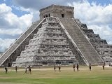 View of Chichen Itza's Kulkulkan in the Yucatan peninsula