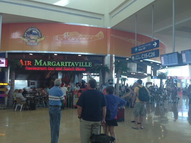 Margaritaville at the Cancun airport