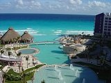 The Caribbean from the top of the Westin Lagunamar in Cancun Mexico