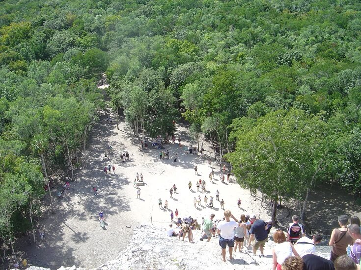 Coba ruins view from the top