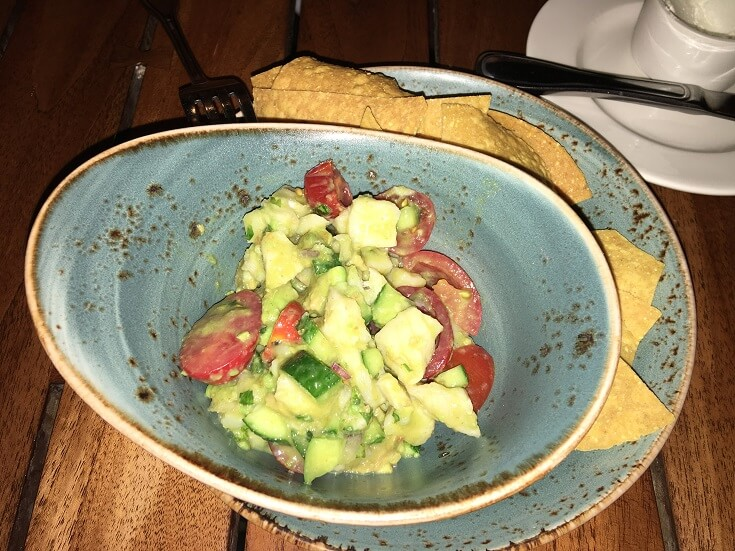 The Duke's ceviche is a nice sized appetizer for two that combines locally grown limes, onions, jalapenos, avocados and lemons with a tender and sweet fish