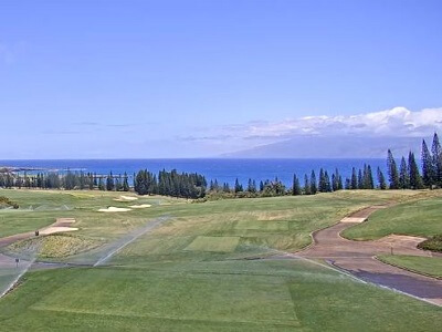 View of the Pacific from the Kapalua Plantation golf course