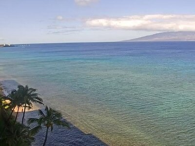 Live webcam view of Kaanapali beach looking south from the Maui Kai