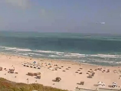 Live view of Miami's famous South Beach