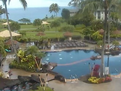 View of the pool area at the Westin Princeville in Kauai