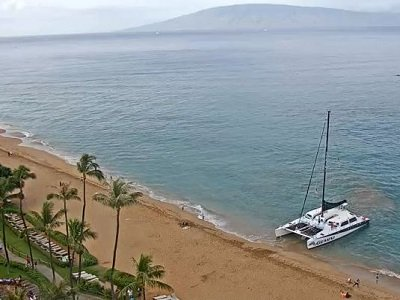 Live view of the beach from the Westin Maui